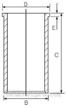 Гильза PSA/FORD 75.0 1.6HDI DV6TED4(9HY/9HZ)/DV6ATED4 (9HX)/HHDA GOETZE 14-020900-00