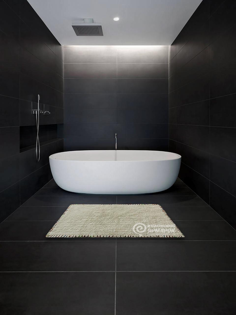 Коврик 16286 BATH MAT 0,5Х0,8 Бежевый с серым прямоугольник
