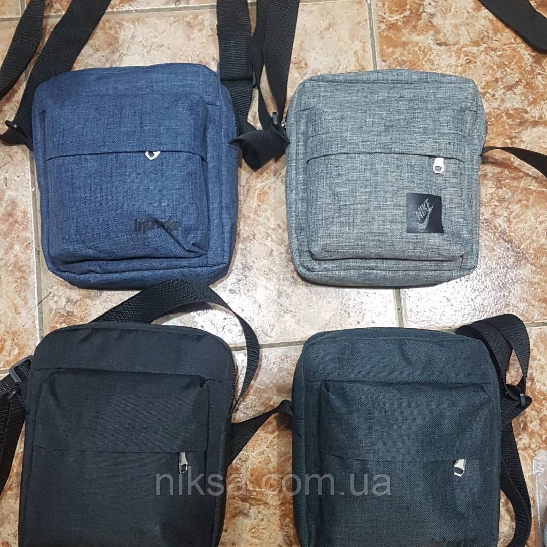 Сумка-Барсетка Nike мужская, ткань милан, размер 23х18х5