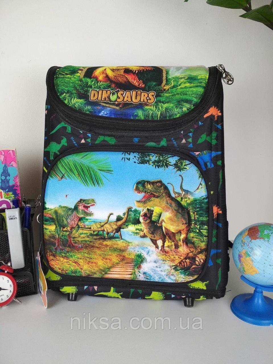 Рюкзак каркасный Динозавр для мальчиков каркасный размер 37х26х20