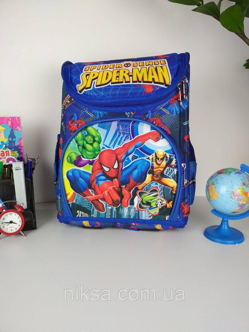 Рюкзак Человек-паук (Спайдермен) каркасный для девочек и мальчиков размер 37х29х20