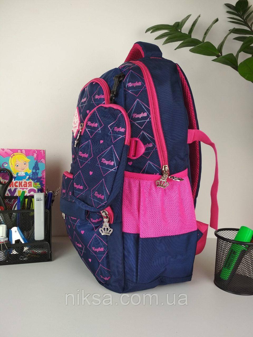 Рюкзак школьный для девочек размер 45х35х15