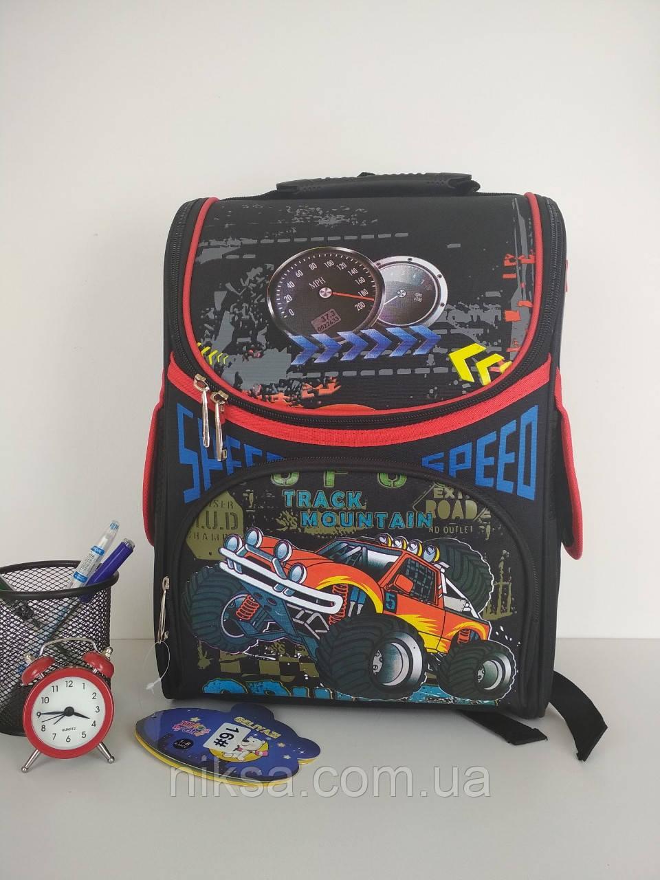 Рюкзак каркасный для мальчиков, ортопедическая спинка размер 37х35х15