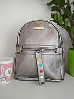 Рюкзак городской кожзам для девочки размер 33x24x12, фото 1