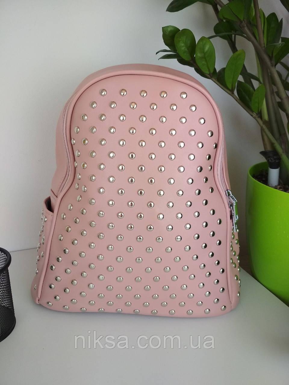 Рюкзак городской кожзам для девочки размер 33x24x11