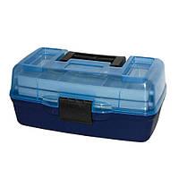 Ящик для снастей AQT-1702T двухъярусный, с прозрачной крышкой, 30.5х18.5х15 см, фото 1