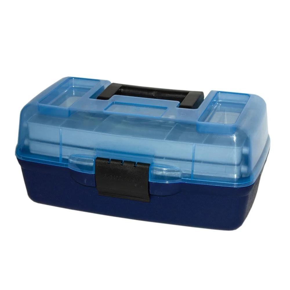 Ящик для снастей AQT-1702T двухъярусный, с прозрачной крышкой, 30.5х18.5х15 см