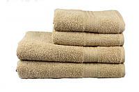 Махрове полотенце банне в 4-х кольорах. Бежевий.