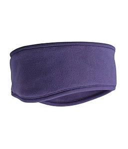 Флисовая повязка на голову Баклажан