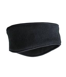 Флисовая повязка на голову  Светло-Черный