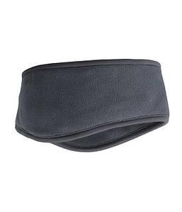 Флисовая повязка на голову  Темно-Серый