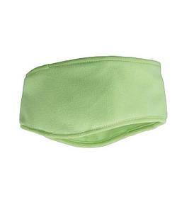 Флисовая повязка на голову Зеленый Лайм