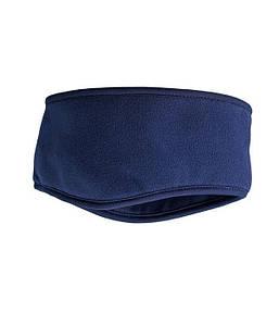 Флисовая повязка на голову Темно-Синий