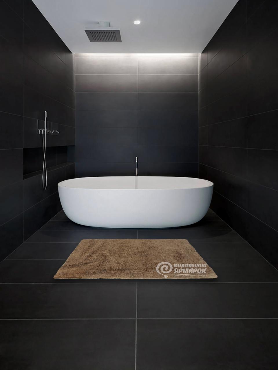 Коврик для ванной комнаты 16286A BATH MAT 1,5Х1,5 БЕЖЕВЫЙ квадрат