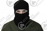 Шапка шлем. Балаклава. Вязанная, осень, маска 52, Черный