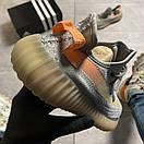Женские Кроссовки Adidas Yeezy Boost 350 V2 Gray Orange / Адидас Изи Буст 350 В2 Серые Оранжевые, фото 4