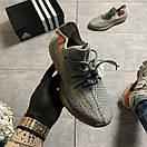 Женские Кроссовки Adidas Yeezy Boost 350 V2 Gray Orange / Адидас Изи Буст 350 В2 Серые Оранжевые, фото 6