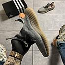 Женские Кроссовки Adidas Yeezy Boost 350 V2 Gray Orange / Адидас Изи Буст 350 В2 Серые Оранжевые, фото 7