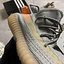 Женские Кроссовки Adidas Yeezy Boost 350 V2 Gray Orange / Адидас Изи Буст 350 В2 Серые Оранжевые, фото 8