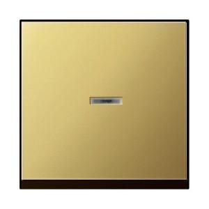 Клавиша 1-я с окошком для подсветки GIRA System 55 латунь