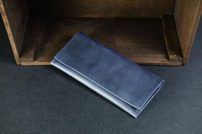 Кошелек клатч Молодежный Винтажная кожа цвет Синий, фото 2