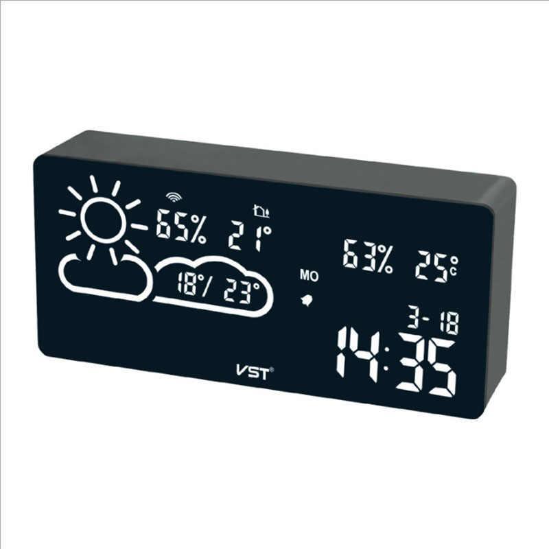 Цифрова метеостанція з годинником VST-882