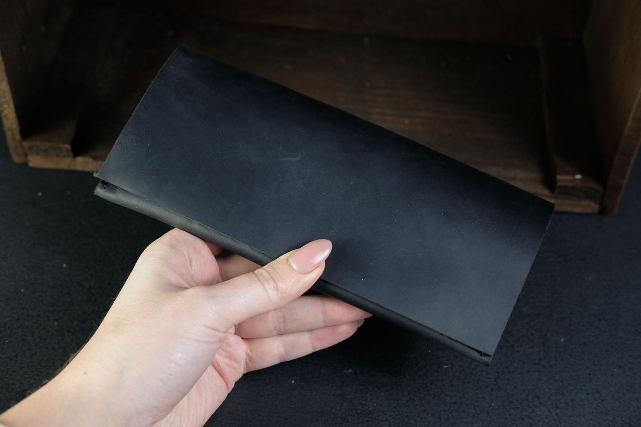 Кошелек клатч Молодежный Винтажная кожа цвет Черный