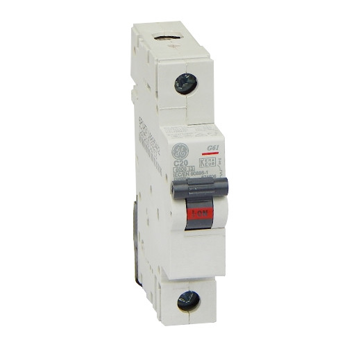 Автоматический выключатель General Electric G61 C20 6kA (674606)