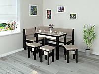 Кухонный уголок Тунис стол+диван+3 табурета Дерево