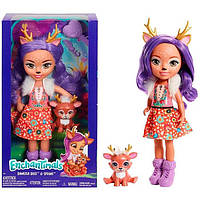 Большая кукла Enchantimals Danessa Deer Данесса с Олененком