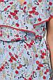 Стильное летнее платье на запах Сафина 3 цвета (52-58), фото 8