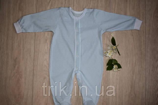 Человечек хлопковый легкий голубой полотно мультирип, фото 2