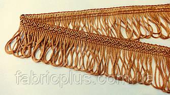 Бахрома с узором 5 см петелька светло-коричневая
