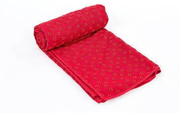 Йога-рушник (килимок для йоги) (р-р 1,83 м x 0,63 м, мікрофібра+силікон)