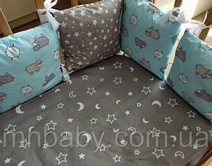 Бортики в детскую кроватку Баранчик