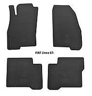 Резиновые автомобильные коврики в салон FIAT Linea 2007 фиат линеа Stingray