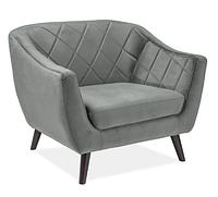 Кресло  Molly Velvet 1 ( Молли Вельвет 1 серый)