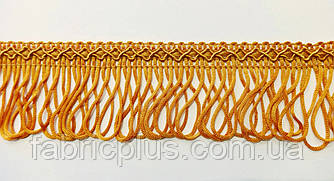 Бахрома с узором 5 см петелька цвет охра