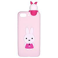 Чехол Cartoon 3D Case для Apple iPhone 7 Plus / 8 Plus Кролик