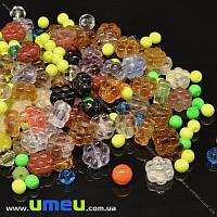 Бусины чешское стекло Preciosa 92-Mix-Flower11-Multi, 1 уп (25 г) (BUS-036608)