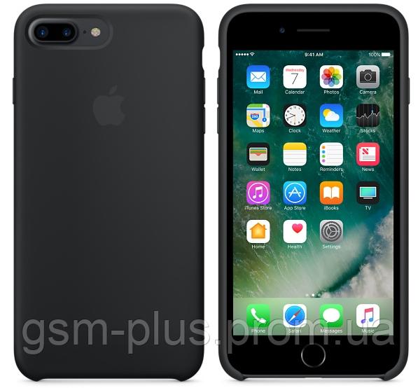 Чехол (Silicone Case) для iPhone 7 Plus / iPhone 8 Plus Black