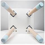 Дитячий стіл і 2 стільці (дерев'яний стільчик зайчик 2 шт і прямокутний стіл), фото 6