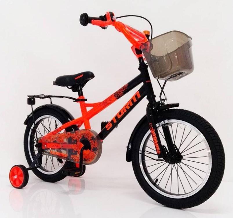 Велосипед 18-STORM оранжевый. Сборка 85%