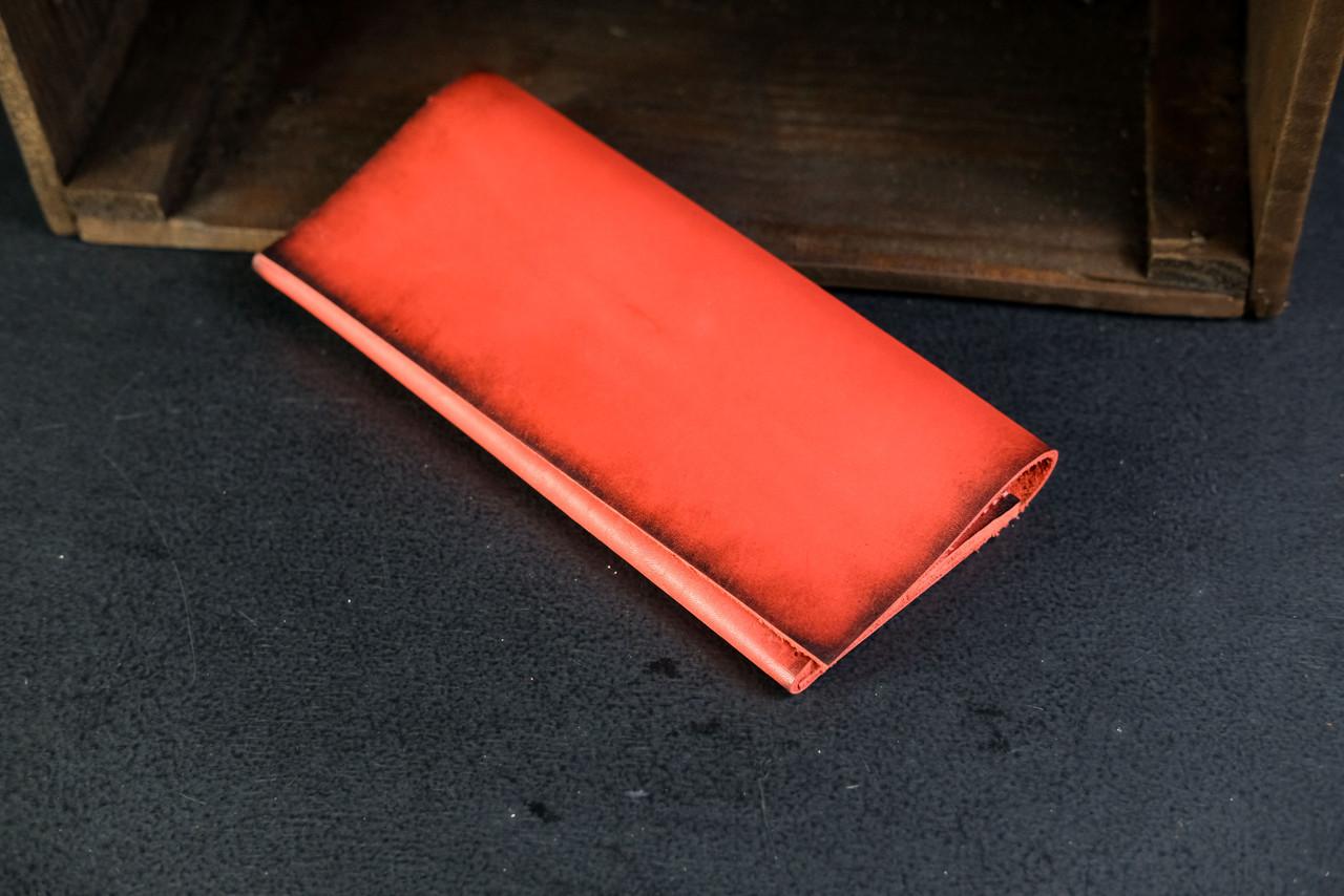 Кошелек клатч Молодежный Кожа Итальянский Краст цвет Красный