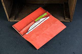 Кошелек клатч Молодежный Кожа Итальянский Краст цвет Красный, фото 3