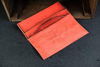 Кошелек клатч Молодежный Кожа Итальянский Краст цвет Красный, фото 2