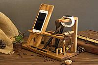 Женский деревянный органайзер для телефона на рабочий стол