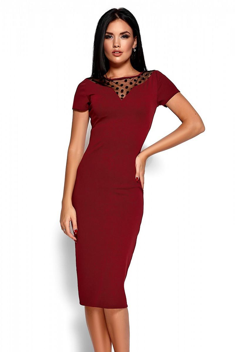 S, M, L, XL / Облягаюче класичне плаття Valia, марсала