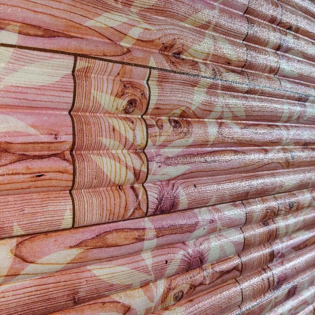 Самоклеящаяся декоративная 3D панель бамбук кладка оранжевый 700x700x9 мм (самоклейка, Мягкие 3D Панели)