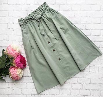 Женская юбка-трапеция с поясом, 42-44р